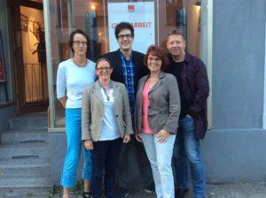 v.l.nr.: Martina Rößmann-Wolff, Sabine Schmidt (stellv. Bezirksbürgermeisterin), Max Guder (Fraktionssprecher), Doris Blume und Stadtverordneter Guido Grüning (beratendes Mitglied)